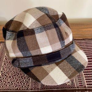Cute plaid newsboy cap